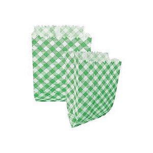 Saquinho de Papel Xadrez Verde 10,5X14 cm - 50 un. - Kaixote - Rizzo