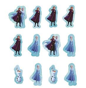 Aplique Imp Cartonato em EVA - Frozen 2 - 12 Unidades - Piffer - Rizzo Embalagens