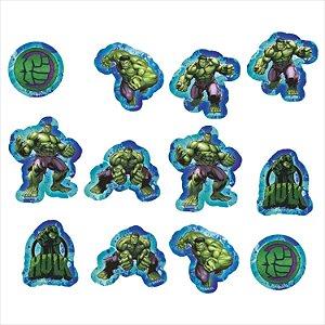 Aplique Imp em EVA - Vingadores - Hulk - 12 Unidades - Piffer - Rizzo Embalagens