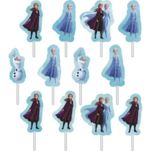 Palitos Decorativos em EVA - Frozen 2 - 12 Unidades - Piffer - Rizzo Embalagens
