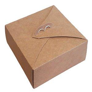 Caixa para Bolo em Papel Kraft Resistente - N1 - 25x25x19cm - Rizzo Embalagens