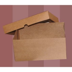 Caixa para Bolo K53 Kraft 23,5x17,5x11cm - Rizzo