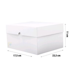 Caixa para Bolo K53 Branca 23,5x17,5x11cm - Rizzo