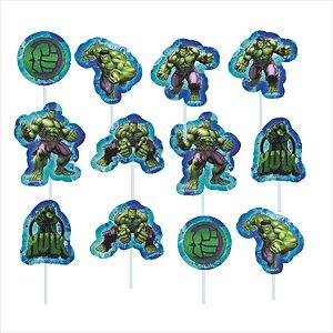 Palitos Decorativos Impresso EVA - Vingadores - Hulk - 01unidade - Piffer - Rizzo Embalagens