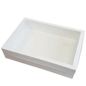 Caixa com Visor Branca - KB31 - 35x25x8cm - Rizzo Embalagens