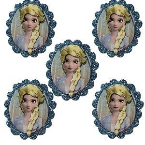 Mini Carinha Impresso em EVA - Frozen 2 - Elsa - 5 Unidades - Piffer - Rizzo Embalagens