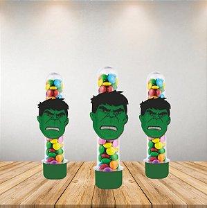 Mini Carinha Cartonato e EVA - Vingadores - Hulk - 5 Unidades - Piffer - Rizzo Embalagens