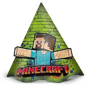 Chapéu Festa Minecraft Grafite - 12 unidades - Regina - Rizzo Embalagens