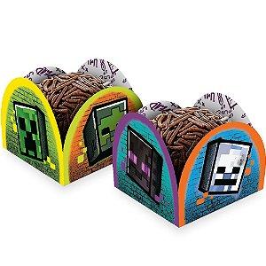 Porta Forminha - Festa Minecraft Grafite - 50 unidades - Regina - Rizzo Embalagens