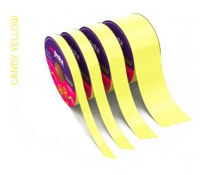 Rolo Fita Lisa Candy Amarelo - 20mm x 50m - EmFesta