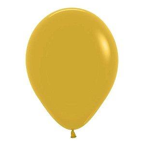 Balão de Festa Látex Liso - Mostarda - Sempertex Cromus - Rizzo Balões