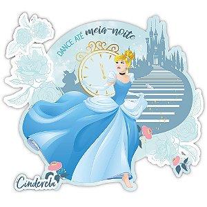 Painel Decorativo 96x84cm - Festa Cinderela - 01unidade - Regina - Rizzo Embalagens