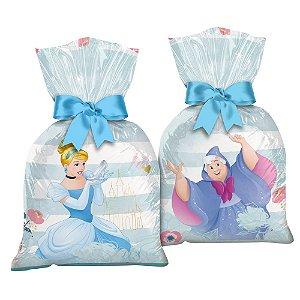 Sacola Plástica - Festa Cinderela - 12 unidades - Regina - Rizzo Embalagens