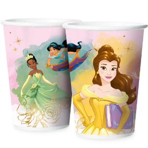 Copo Papel 180ml - Festa Princesas Disney - 12 unidades - Regina - Rizzo Embalagens