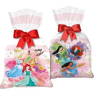 Sacola Plástica - Festa Princesas Disney - 12 unidades - Regina - Rizzo Embalagens