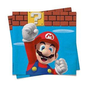 Guardanapo Festa Super Mario - 20 unidades - Cromus - Rizzo