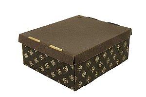 Caixa para Transporte Nº3 Impresso Marrom 31x25x12 Sulformas Rizzo