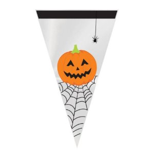 Cone Doces ou Travessuras 18x30cm - Halloween - 50 unidades - Cromus - Rizzo Embalagens
