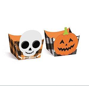 Forminha para Doces Composê Halloween - Caveira e Abobóra - 24 unidades - Cromus - Rizzo Embalagens