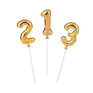 Topo de Bolo Dourado - 01 Unidade - Silver Festas - Rizzo Embalagens
