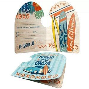Convite Festa Surf Tropical - 8 unidades - Junco - Rizzo Embalagens