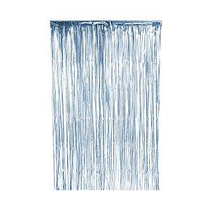 Cortina Decorativa Fosca Azul L1 x A2 m- 01unidade - Artlille - Rizzo Embalagens