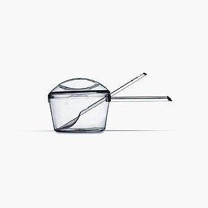Kit Panelinha com Colher Piccolo Cristal 5 unidades - Plastilânia - Rizzo Embalagens