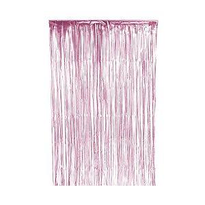 Cortina Decorativa Fosca Rosa L1 x A2 m- 01unidade - Artlille - Rizzo Embalagens
