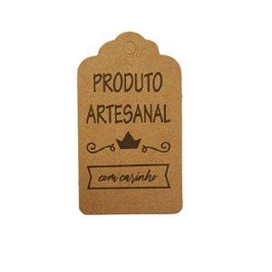 Tag Decorativa Kraft com Furo - Produto Artesanal - 10 unidades - Rizzo Embalagens