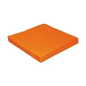 Guardanapo de Luxo Folha Dupla Liso Laranja - 20 unidades - Silver Festas - Rizzo Embalagens