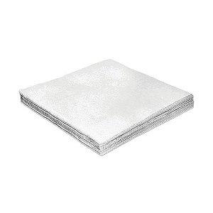 Guardanapo de Luxo Folha Dupla Liso Branco - 20 unidades - Silver Festas - Rizzo Embalagens