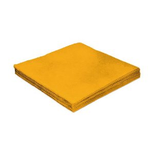 Guardanapo de Luxo Folha Dupla Liso Amarelo - 20 unidades - Silver Festas - Rizzo Embalagens