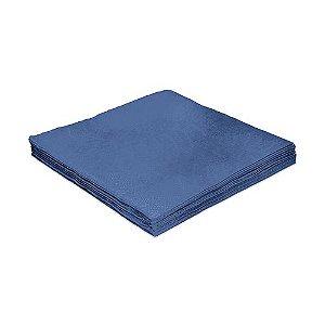 Guardanapo de Luxo Folha Dupla Liso Azul - 20 unidades - Silver Festas - Rizzo Embalagens