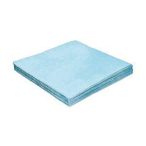 Guardanapo de Luxo Folha Dupla Liso Azul Claro - 20 unidades - Silver Festas - Rizzo Embalagens