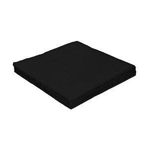 Guardanapo de Luxo Folha Dupla Liso Preto - 20 unidades - Silver Festas - Rizzo Embalagens