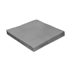 Guardanapo de Luxo Folha Dupla Liso Prata - 20 unidades - Silver Festas - Rizzo Embalagens