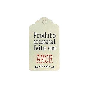Tag Decorativa Branco com Furo - Produto Artesanal - 10 unidades - Rizzo Embalagens