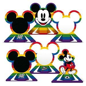 Decoração de Mesa Festa Mickey Arco-Íris - 06 unidades - Regina - Rizzo Embalagens