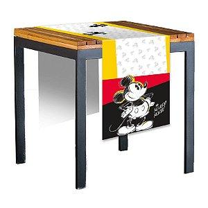 Trilho de Mesa de Tecido 40x200cm Festa Mickey Fãs - 01 unidade - Regina - Rizzo Embalagens