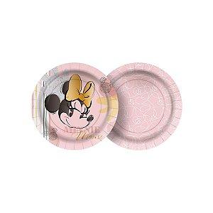 Prato de Papel Festa Minnie Fãs - 12 unidades - Regina - Rizzo Embalagens