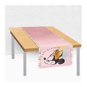 Trilho de Mesa de Tecido 40x200cm Festa Minnie Fãs - 01 unidade - Regina - Rizzo Embalagens