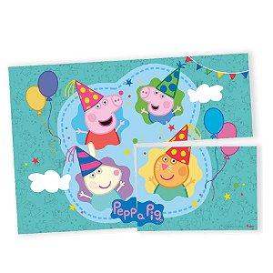 Painel Decorativo 126x88cm - Peppa Pig Clássica - 01unidade - Regina - Rizzo Embalagens