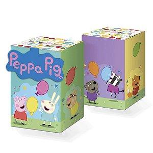 Caixa Surpresa Quadrada com Aplique Peppa Pig Clássica - 8 Unidades Rizzo Embalagens