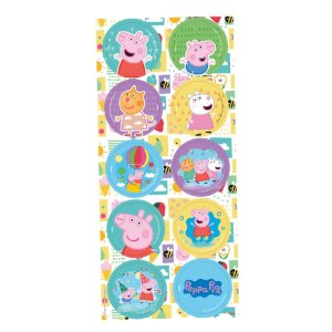 Adesivo Redondo Decorativo Festa Peppa Pig Clássica - 30 unidades - Regina - Rizzo Embalagens