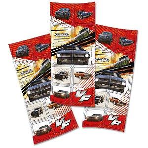 Adesivo Quadrado Festa Velozes e Furiosos - 30 Unidades - Festcolor - Rizzo Embalagens