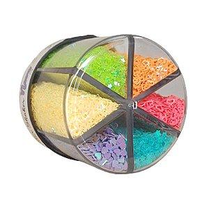 Glitter Shaker Pote de 60g com 6 Cores - 01 Unidade - BRW - Rizzo Embalagens