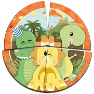 Painel Decorativo Festa Dino Baby - 1 Unidades - Festcolor - Rizzo Embalagens