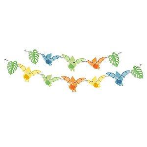 Faixa Decorativa Festa Dino Baby - 1 Unidades - Festcolor - Rizzo Embalagens