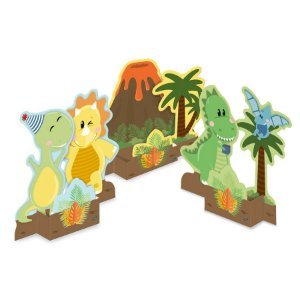 Decoração Especial de Mesa Dino Baby - 3 Unidades - Festcolor - Rizzo Embalagens
