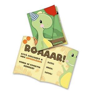 Convite Festa Dino Baby - 8 Unidades - Festcolor - Rizzo Embalagens